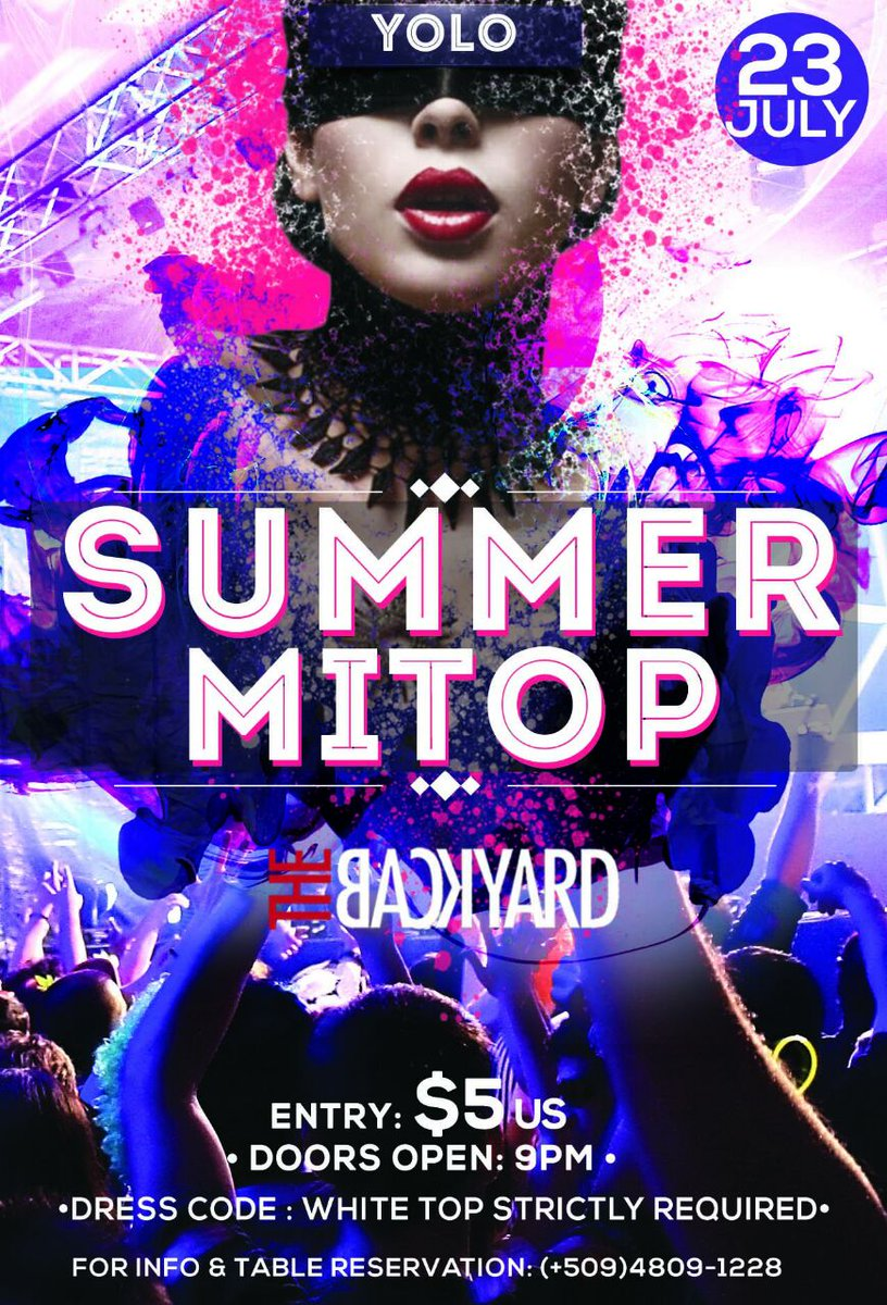 One date | One event | One Team | One white top | 2 Djs | 5 US dollars #SummerMitòp #LikeAMoonFoo