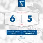 RECAP: @theteenager7 gets first big league win as #Dodgers top Brewers, 6-5. #WeLoveLA ????: https://t.co/nEvf1aAAnb https://t.co/jKQLB53eHO