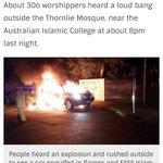 """خبر لا يهتم له """"بعض القوم"""" : تفجير إرهابي """"عنصري ضد المسلمين"""" بجانب مسجد مكتظ بمئات المصلين البارحة  بأستراليا https://t.co/3pgKJWuhlH"""