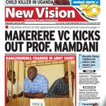 MAKERERE VC KICKS OUT PROF. MAMDANI - Today in the @newvisionwire  Get the #Epaper via: https://t.co/diGxKJlGDb https://t.co/ZtHO2SGnjf