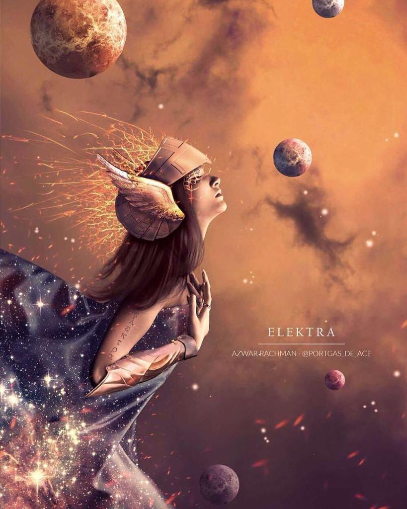 Karya menakjubkan @rachmanazwar yang terinspirasi dari Elektra