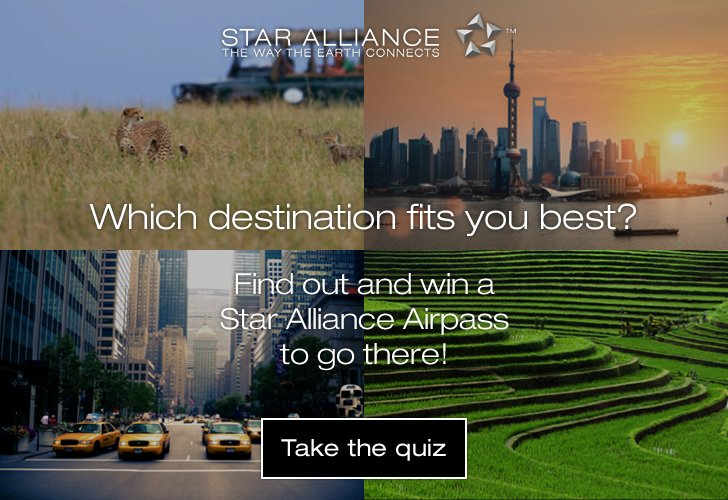 Discover continents, regions and countries with just one ticket. Win a @staralliance