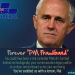 #electionin6words Punish @TurnbullMalcolm for his #fraudband fxckup! #AUSpol #ausvotes https://t.co/HKchtwThbw