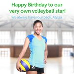 Its the #QueenEagle's day! Were definitely spiking love & happy thoughts your way. Happy Birthday, @AlyssaValdez2! https://t.co/GbIp85ennI