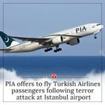 PIA offers to fly Turkish Airlines passengers following terror attack at Istanbul airport https://t.co/WDicR3ZADW https://t.co/i2c90qAOvu