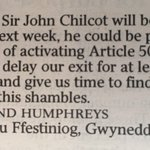 Excellent suggestion from the Times letters page https://t.co/3Ko1jT7nyR