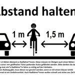 Über einzuhaltende Abstände von und zu Radfahrern #msverkehr https://t.co/KmY3oD0rVS