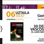 """El próximo miércoles a las 18:30 presentación del libro """"30 deportistas vascos de leyenda"""" #30dvl en @elkar Vitoria https://t.co/Ra1uPdCz9U"""