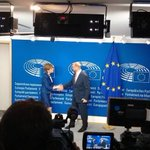 President of EU Parliament welcoming our First Minister in Brussels https://t.co/f9M9eRNLLC
