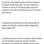 BREAKING: Qld Mines Dept confirms 8th case of deadly Black Lung disease. @abcnews @abcnews24 https://t.co/Dhz8lllyTp