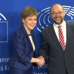 European Parliament President @MartinSchulz welcomes the First Minister of Scotland @NicolaSturgeon to Brussels. https://t.co/wh84GJFEY9
