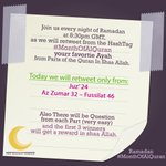"""Share an ayah from Juz 24 #MonthOfAlQuran """"Convey from me, even if one ayah"""" Prophet Muhammad ﷺ https://t.co/9DKND5Ro0C"""