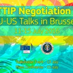 The 14th #TTIP Negotiation Round is happening from 11-15 July 2016 in Brussels. More info: https://t.co/4qc3JEcOVz https://t.co/9eJAz4cCDW
