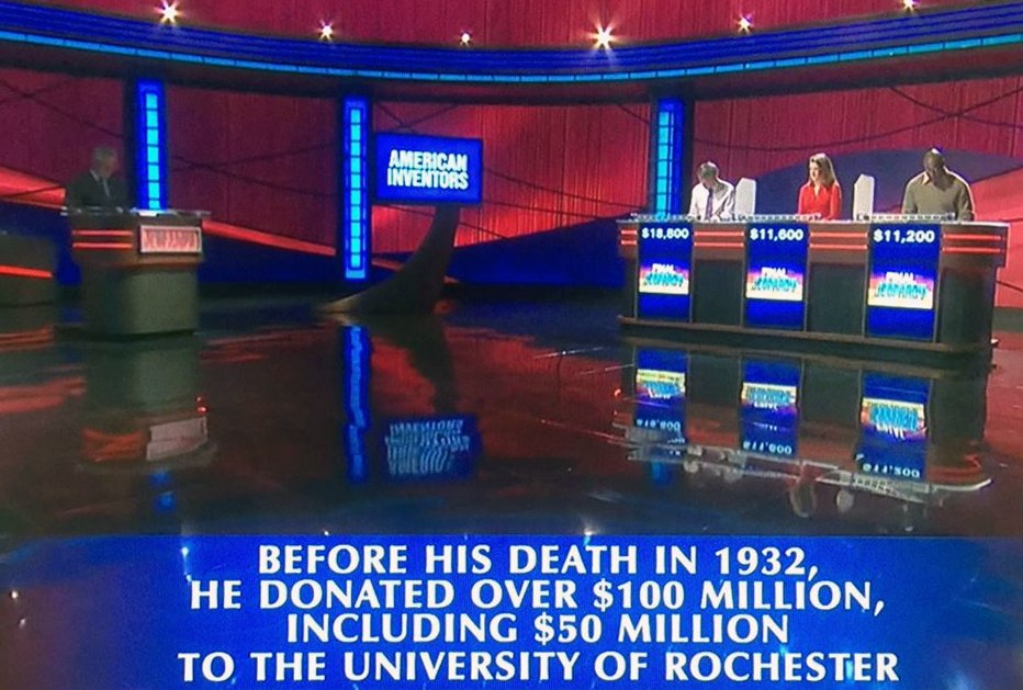 ICYMI: Last night's Final Jeopardy question was near and dear to our hearts @UofR #ROC https://t.co/h5AFoAXUOf