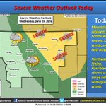 Some storms may be severe today over the Northeast plains of Colorado with large hail and damaging winds. #cowx https://t.co/6bYzJuJKeu