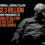 The Turnbull Libs have chosen bank profits over pensions. Put them last. #AusVotes https://t.co/3orYrVhKuf