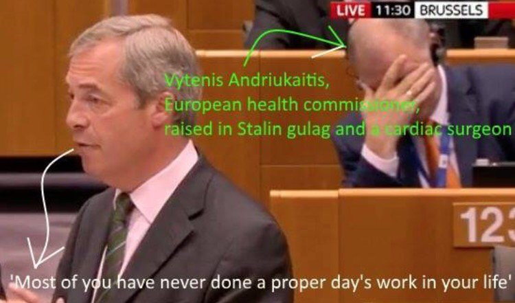 A dodgy silver spooned Dulwich dealer telling a surgeon what he thinks of him. #Farage https://t.co/sPuTn2f0vE
