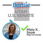 BREAKING: Misty Kathrine Snow, a Bernie Sanders supporter, is the projected winner of the Utah Senate Primary! https://t.co/iax2sTfNR6