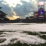 ICYMI: This is what the grounds crew at #CoorsField had to deal with last night: https://t.co/InCSawRvDt https://t.co/QVBgWGHc1c