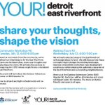 Free #Detroit East Riverfront community workshop & walking tours. Includes I-375 discussion https://t.co/EuR5KoXHvb https://t.co/QQOrebjmIn