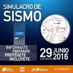 ¡Infórmate, protégete, inclúyete y prepárate! participa hoy en el #SimulacroSismo2016 https://t.co/9YUhFZnfED