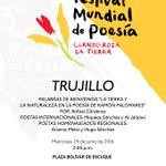 Hoy será la Gala Inaugural del #FestivalMundialDePoesia en Escuque! Asiste y participa https://t.co/tzmUZYlHXP