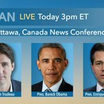 Tri-Lateral Press Conference with @POTUS, @JustinTrudeau @epn – LIVE at 3pm ET on C-SPAN https://t.co/yGmxjrcyCu https://t.co/u2byOZHl6L
