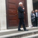 Young people (and @johnmcdonnellMP) gather outside SOAS to say #KeepCorbyn https://t.co/BSoptJ5nb0
