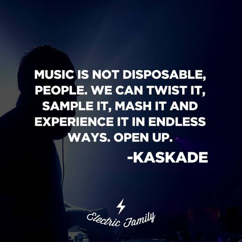 Wise words from @kaskade for some #WednesdayWisdom. Open up to the infinite possibilities, fellow creators :) https://t.co/xWQAKLTsZo
