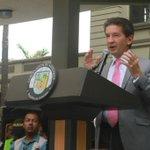 Los grandes proyectos de la humanidad los han hecho los que viven inconformes: @Luis_Perez_G #FerrocarrildeAntioquia https://t.co/mV0c89MuOa