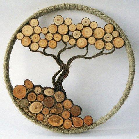 Из спилов дерева своими руками