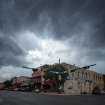 Storm clouds rolling into town yesterday. #smtx #txst #txwx https://t.co/k79Ss841DX