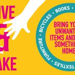 Give & Take event 18 July. Recycle unwanted items or come along and take something away! https://t.co/IqtrF8bSg0 https://t.co/2FW0ithYhe