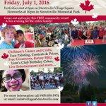 Check out the Streetsville Canada Day Celebrations July 1st @ 6pm @ the Village Square! https://t.co/dXZijxTXge https://t.co/2Al2cJFOli