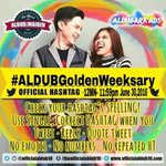 Oht.. Fifty weeks.. Wow!! #ALDUBGoldenWeeksary @mainedcm @aldenrichards02 @MaiDenALDUBRKDS @officialaldub16 -lai https://t.co/OrvPTndBqx