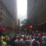 Large crowd of demonstrators outside Langham hotel in #Boston, protesting @realDonaldTrump fundraiser #wcvb https://t.co/DruRh9FKtH