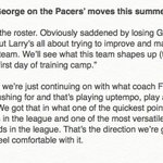 Paul George on the Pacers roster: https://t.co/V6gsAlSOni