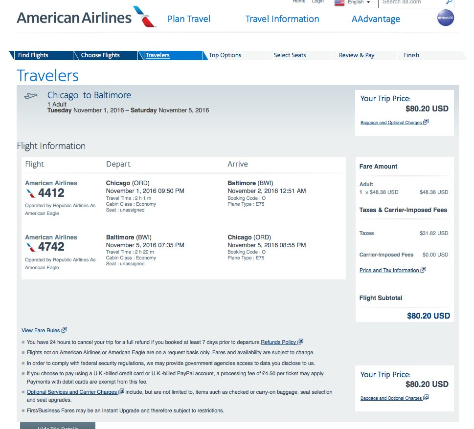 RT @airfarewatchdog: Chicago ORD to Baltimore BWI $81 nonstop on @AmericanAir for Nov travel. airfare https://t.…