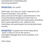 Now seems like *quite* an appropriate time to bring out my fave Gove exchange ever. https://t.co/f8Cdy3NKFw