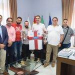El alcalde @RamonFPM felicita al @PoliAlmeria Almería por su ascenso a División de Honor @LaVozDeporteAlm https://t.co/Ja7TfQK5gN