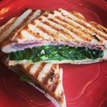 Todays Lunch Special: Ham, Brie, Spinach, Apple, Honey Mustard on Toasted Sourdough! #stl #healthyeating #local https://t.co/vfSR7JdMx5