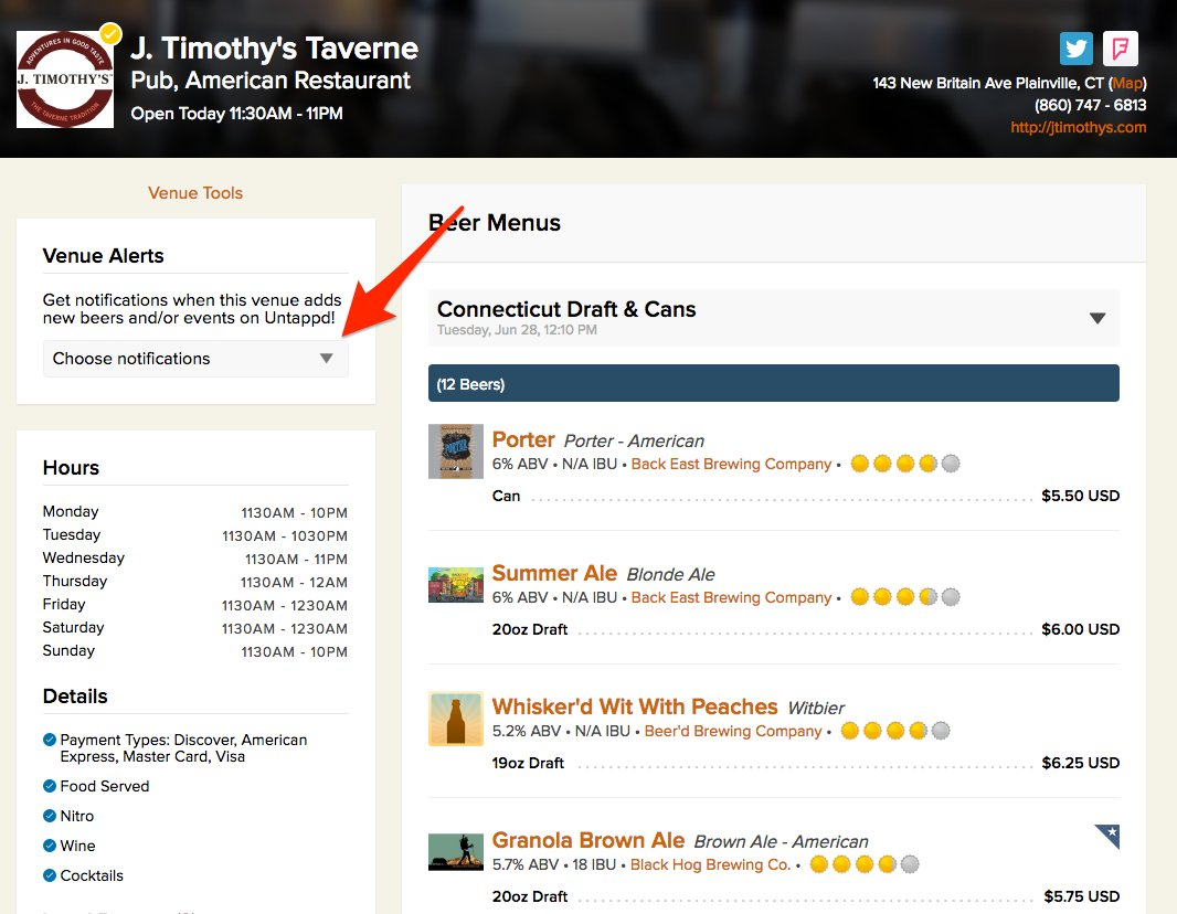 Excited that you now can subscribe to @untappd Verified Venus right via the web or mobile web! https://t.co/AZlY93WoK5