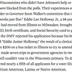 WI voter ID law working as intended: 85% denied IDs are black, Latino or Native American https://t.co/rBSiUxKGIc https://t.co/7KLnyknoRP