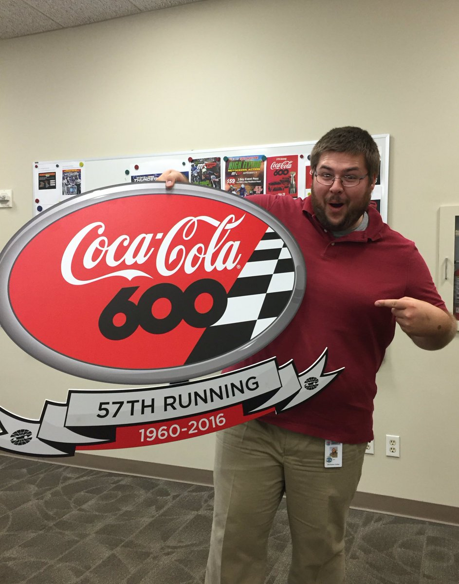 #winitwednesday RT for a chance to win a sign from the @CocaCola 600 drivers meeting! Winner will be chosen at 3pm https://t.co/s5uXOMqfZv