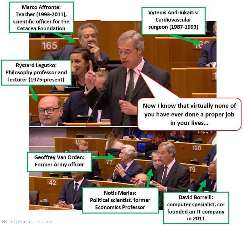 Farage questions whether people in EU Parliament have done 'proper jobs'.  (by Luki Sumner-Rooney via @annerooney) https://t.co/zDzApwvxVV