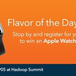 Stop by the SAS booth today to register for the Apple Watch giveaway.  #HadoopSummit #HS16SJ https://t.co/ZgOzbLzkte