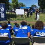 .@IndyParksandRec Dir @LindaBroadfoot @IndyMayorJoe @Colts Riverside Park #NFLPlay60 fitness park groundbreaking https://t.co/f2G0U5e2L0