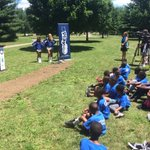 Riverside Park is one of best in city. Thanks to @Colts for helping break ground on new fitness challenge course https://t.co/G3Tb6mzLPI