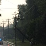 Power pole down on Barnes Street in Reidsville. Road is closed at intersection of Barnes and Martin Street. @WFMY https://t.co/w5Q8DHoGHZ