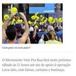 RUAS SÃO PAULO SÁBADO 11h @VemPraRua_br SOS LAVA JATO! #TodosContraToffoli @STF_oficial @SenadoFederal melando! https://t.co/rJ5mJxgild